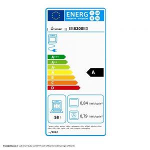 Beispiel Label Energieeffizienzklasse
